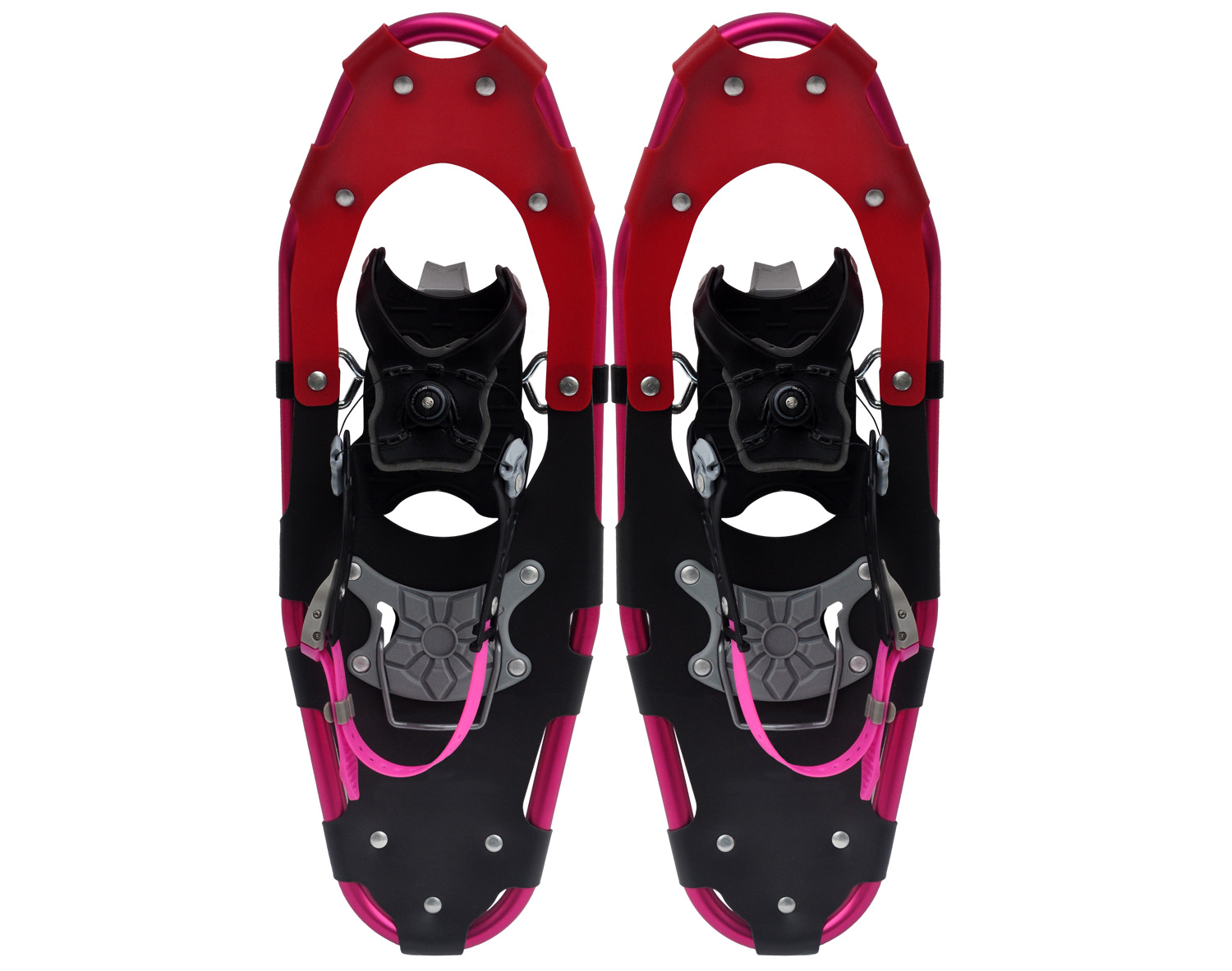 Aluminum frame BOA system snowshoes